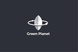 Thumbnail for Green Planet Logo Template