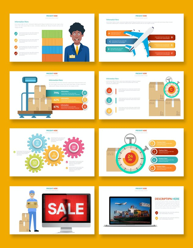 Logistic Infographic Powerpoint - product preview 6