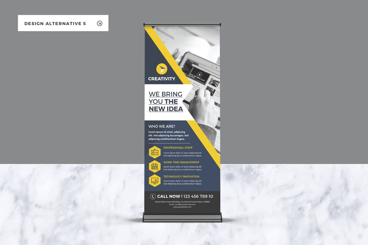 Roll-up Banners by LeafLove on Envato Elements