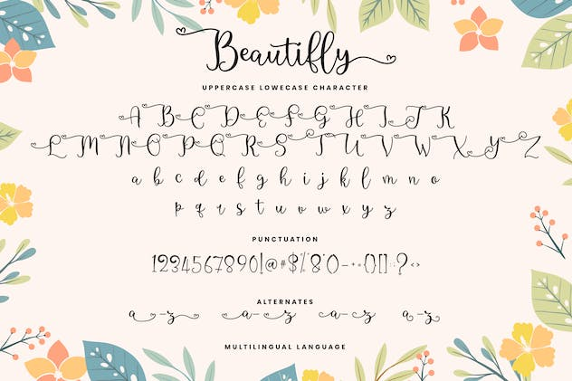 Beautifly Bold and Bouncy Handwritten Script Font - product preview 5