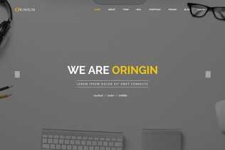 Thumbnail for Oringin - Creative Onepage MUSE Template