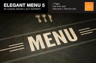 Thumbnail for Elegant Food Menu 5 Illustrator Template