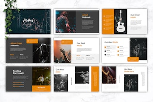 Thumbnail for MAKROCK - Music Powerpoint Template
