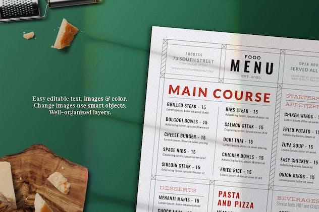 Modern Food Menu - product preview 2