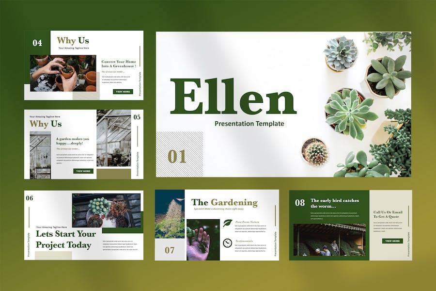 Ellen - Home Gardening Powerpoint Presentation - product preview 1
