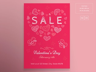 Thumbnail for Valentine's Day Flyer and Poster Template