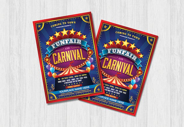 Funfair & Carnival Flyer - product preview 1
