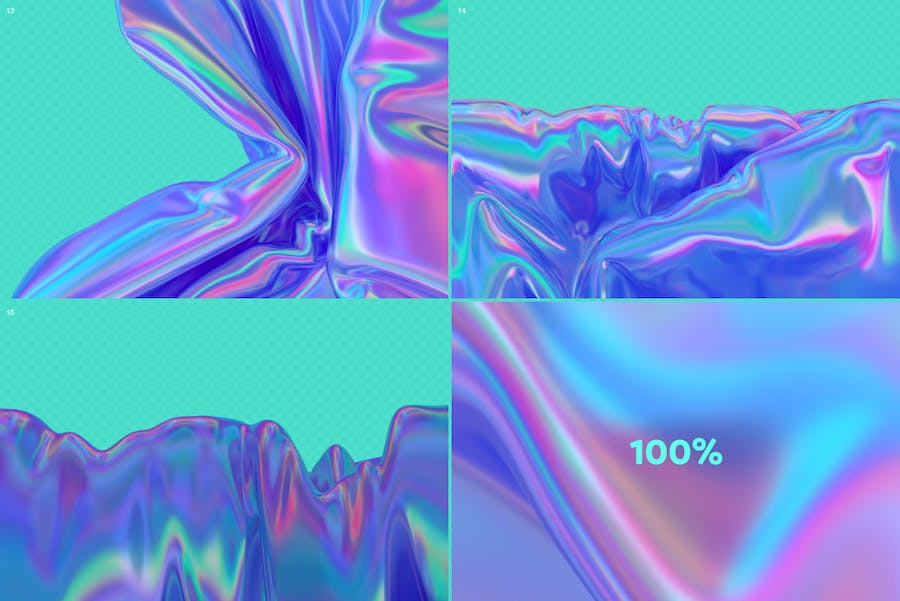 Iridescent Abstract Backgrounds  - V2 - product preview 10
