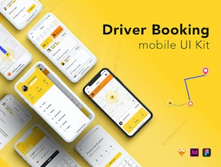 Thumbnail for Taxi Driver Booking UI Kit