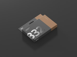 Thumbnail for Box Mockup - Wide Slim Rectangle Size with Hanger