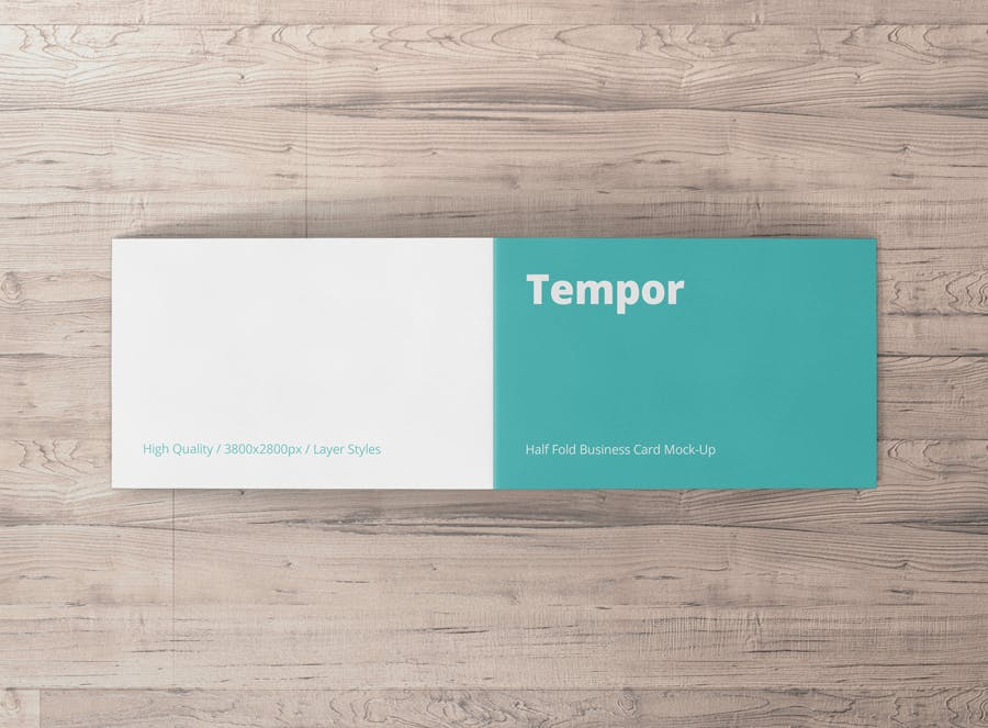 Folded business card mockup by visconbiz on envato elements reheart Choice Image