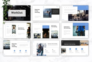 WORKOUT - Gym & Fitness Google Slides Template