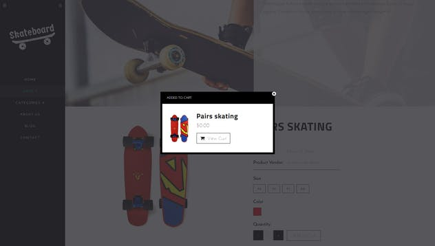 Skate board - Fullscreen Sports Shopify Theme - product preview 12