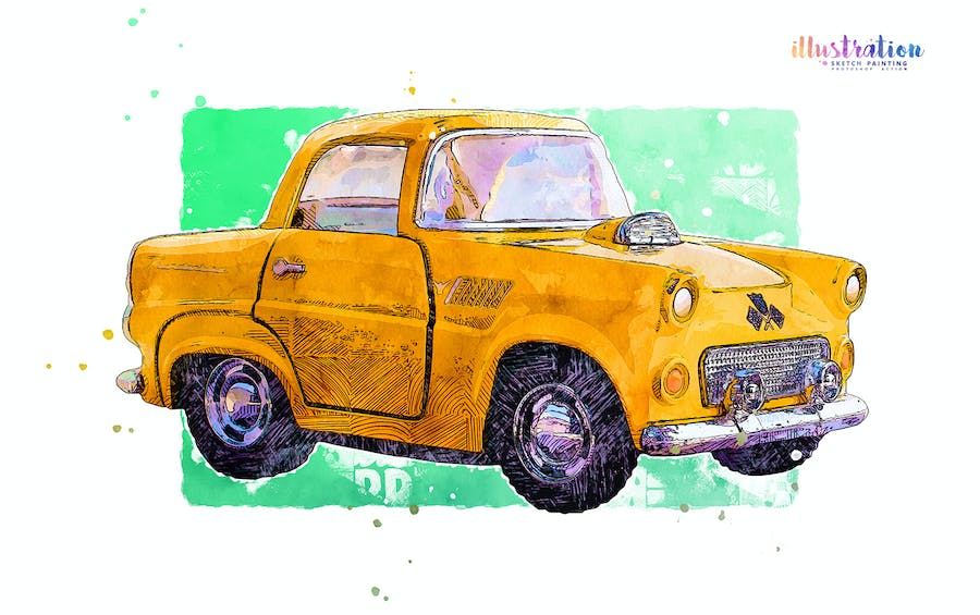 Illustration Sketch Painting Photoshop Action