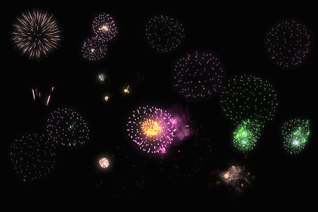 100 Firework Overlays - product preview 6