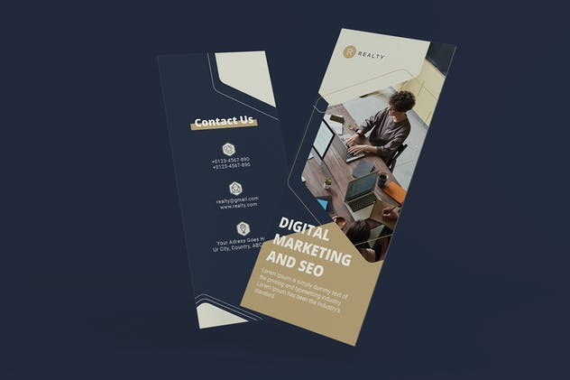 Business Digital Marketing Trifold Brochure