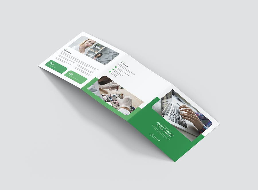 Brochure – IT Services Tri-Fold Square - product preview 3