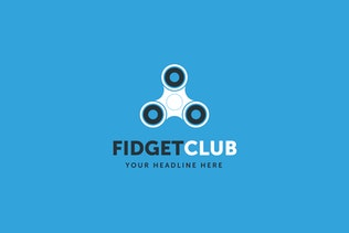 Thumbnail for Fidget Spinner Club Logo Template