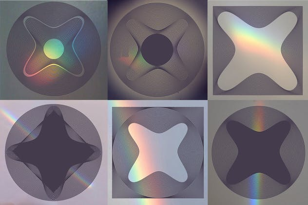 56 illusions forms abstract. Surrealistic optical - product preview 1