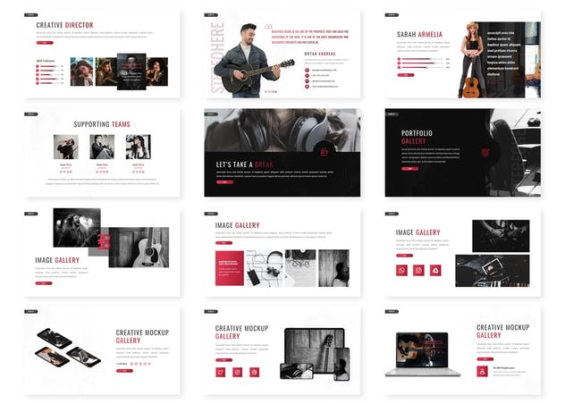 Stereohere - Music Keynote Template - product preview 1