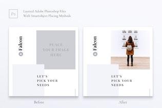 Thumbnail for FALCON Creative Agency Instagram & Facebook Post