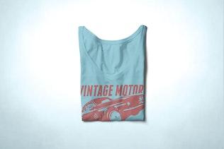 Thumbnail for V-neck T-shirt Mock-up Female Version