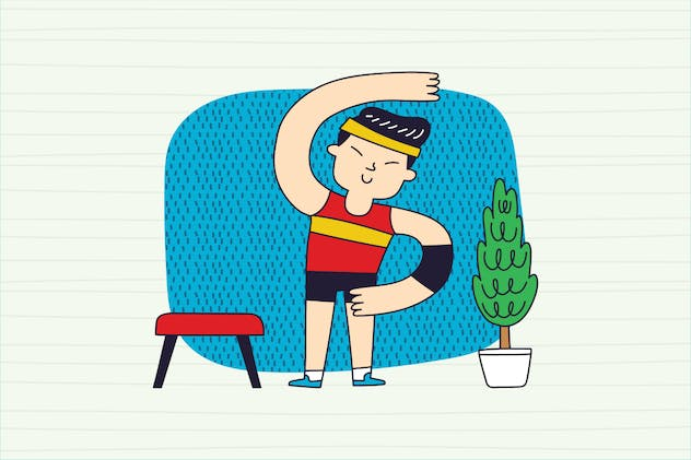 Stay fit at Home, Home Gymnastic series