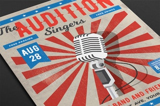 Thumbnail for The Audition Flyer Template