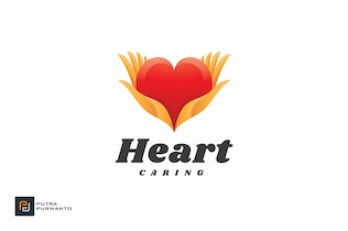 Thumbnail for Heart Caring - Logo Template