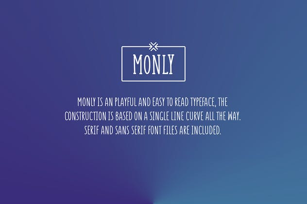 Monly Font - product preview 7