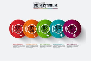 Thumbnail for Presentation Business Infographic Timeline