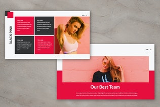 Black Pink Presentation Template By Templatehere On Envato Elements