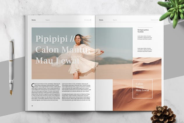 MATAMU - Clean and Minimalist Magazine Template - product preview 4