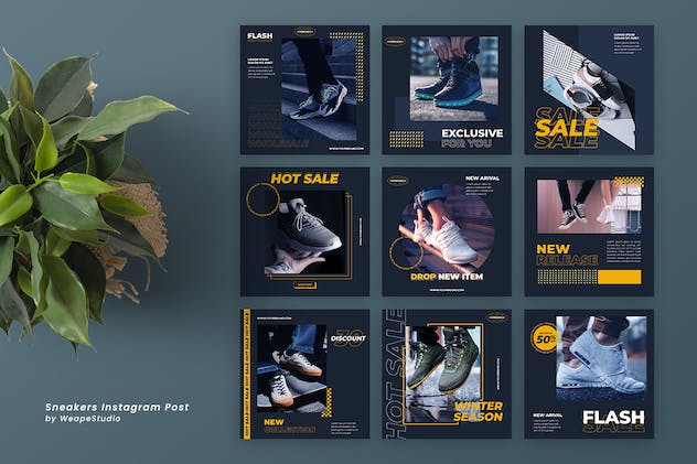 Sneakers Instagram Post Template - product preview 1