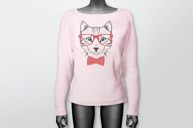 Women's Sweater Mockups - product preview 3