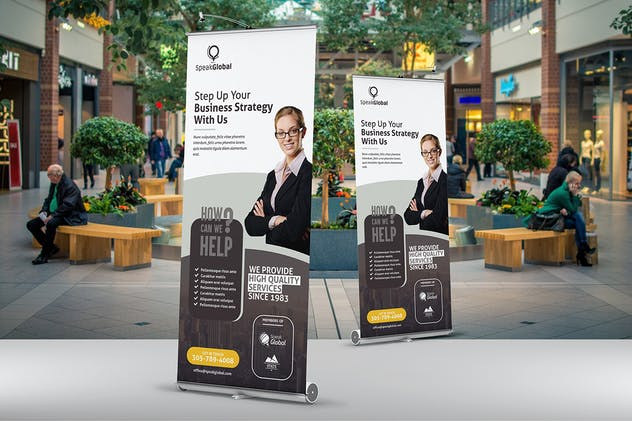 Business Roll Up Banner Template - product preview 2