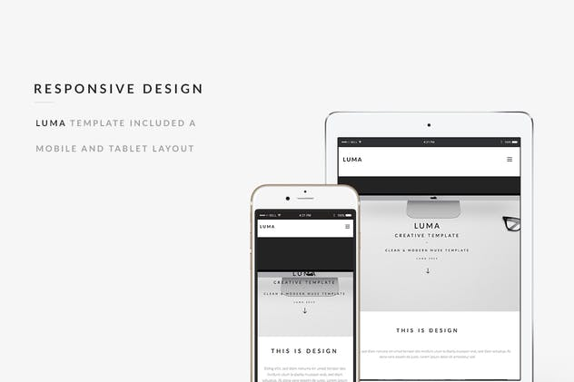 LUMA - Creative Muse Template - product preview 1