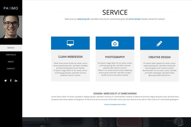 Paximo -Parallax Portfolio Muse Template - product preview 0