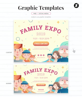 Thumbnail for Family Expo Graphic Templates