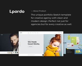 Thumbnail for Lpardo — Creative Agency Sketch Template