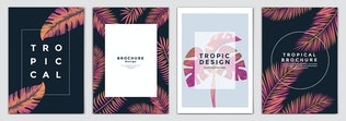 Thumbnail for Set of 12 Tropical Flyer Templates