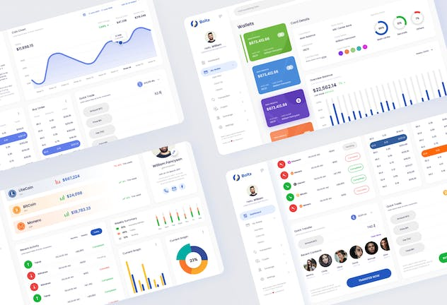Boltz - Crypto Admin Panel Dashboard UI Template - product preview 3