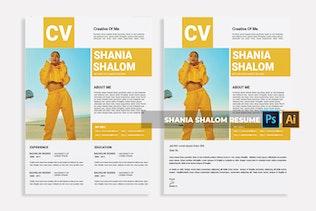 Thumbnail for Shania Shalom | CV & Resume