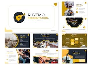 Миниатюра для Rhytmo   Шаблон Keynote