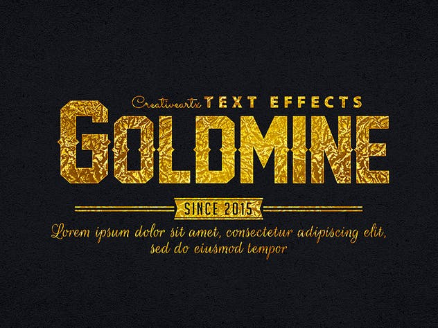 Gold Text Effects 1 - product preview 6