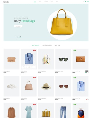 Thumbnail for Famita | Minimalist WooCommerce Psd Template