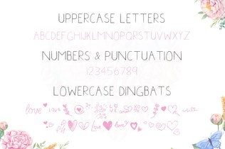 Thumbnail for Little Hearts Font