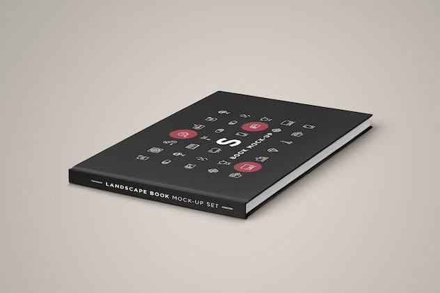 Landscape Book Mock-Up Set 2 - product preview 4
