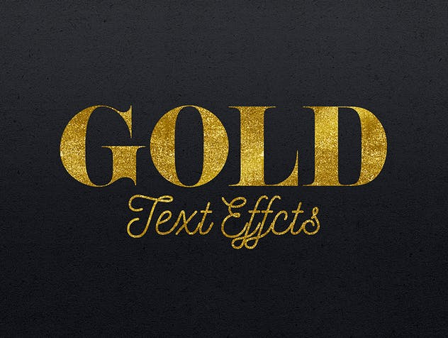 Gold Text Effects 2 - product preview 2