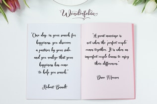 Thumbnail for Wonderfebia - Script Wedding Font